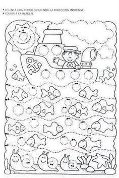 Worksheet Tracing: Sailing in a Circle World. letrimanía 3 - adely l - Álbuns da web do Picasa Tracing Worksheets, Preschool Worksheets, Kindergarten Activities, Preschool Activities, Pre Writing, Writing Skills, Early Learning, Kids Learning, Ocean Crafts