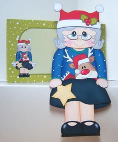 Card Gallery - 3D On the Shelf Card Kit - Christmas Jumper Old Lady