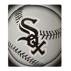 Chicago White Sox Light Weight Fleece MLB Blanket (Flashball Series) (50x60)