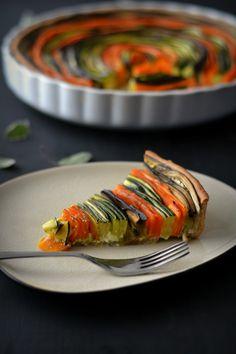 Veggie Roulade || Spiral Vegetable Tart