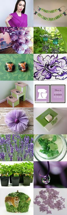 Purple and Green by Ruth on Etsy--Pinned with TreasuryPin.com  #Etsy  #EtsyRMP