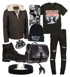 """My name is death"" by averina30 on Polyvore featuring Wilsons Leather, Yves Saint Laurent and Timberland"