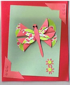 dahlia fold butterfly by yakinnancy - Cards and Paper Crafts at Splitcoaststampers
