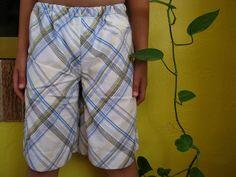 Turn a pillowcase into p.j. shorts.