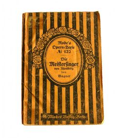 Antique Die Meistersinger von Nürnberg Mode's Opern Texte N 122 - Softcover