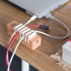 Natural Wooden Universal Desk Cable Organizer Winder Wire Mount Holder Sale - Banggood.com