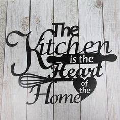 The Kitchen is the Heart of the Home :-) This very decorative metal wall décor would look great in any country kitchen or resteraunt.