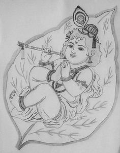 Outline Of Lord Krishna Google Search Paints On Glass Krishna