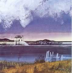 Blue Estuary - Michael Morgan RI Limited Edition Prints, Marine House and Steam Gallery Watercolor Landscape, Abstract Watercolor, Abstract Landscape, Abstract Art, Seaside Theme, Art Society, Architecture Old, Art For Art Sake, Source Of Inspiration