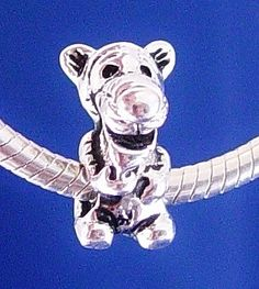 Tigger from Winnie the Pooh  Disney European Charm Bead Silver Plated designed to fit your Pandora Bracelet or style