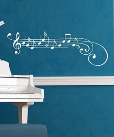 Take a look at this White Music Note Wall Decal by Wallquotes.com by Belvedere Designs on #zulily today! by alison
