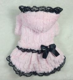 New 2014 Pet Products Dog Clothes Dresses THICK VELVET Coat With Lace Dogs Clothing Two Color Free Shipping $9.99