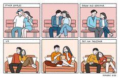 Cute Couple Comics, Couples Comics, Cute Couple Cartoon, Cute Couple Art, Cute Comics, Sundae Kids, Catana Comics, Couple Clipart, Romance Art
