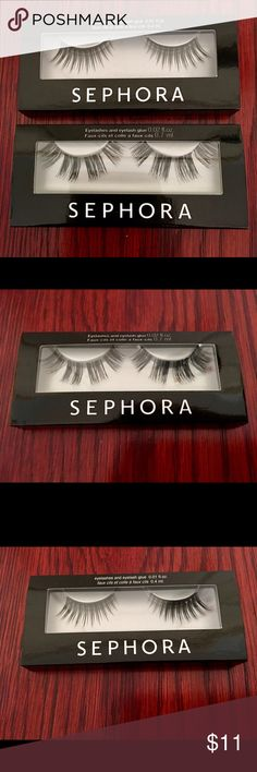 NWT Sephora- 2 Pairs of Lashes 100% Authentic & Purchased from Sephora.   Old Packaging/Never Been Used! 1 Strip Lash & 1 Individual Lash Pack.   Unfortunately, Eyelash Glue Missing from both packs. LOWEST, Firm Price. No Trades. Final Sale... Sephora Makeup False Eyelashes