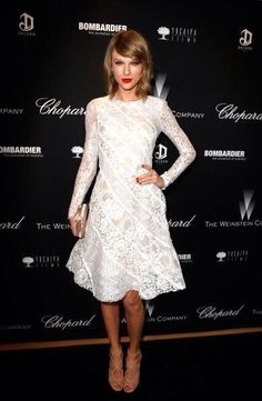 Taylor at the Weinstein party on LA 1/3/14