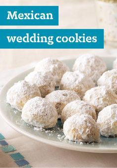 Mexican Wedding Cookies — Five ingredients and 20 minutes later, your oven is baking these sweet, melt-in-your-mouth celebration cookies. Check out the recipe to see how to make these delicious dessert treats for yourself!