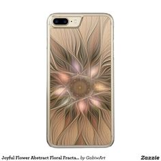 Joyful Flower Abstract Floral Fractal Art Carved iPhone 7 Plus Case