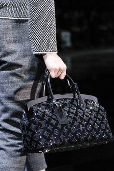 Louis Vuitton Black Acetate Quilted Monogram Bag
