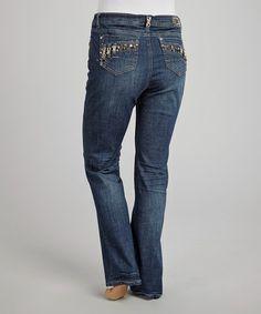 Look at this #zulilyfind! Blue Stitch Pocket Jeans - Plus #zulilyfinds