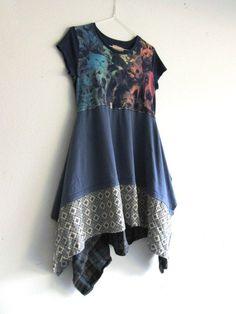Cat / Dog tunic dress / eco tunic / dress / upcycled by CreoleSha