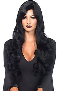 Women's Long Black Wavy Wig