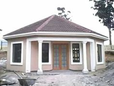 Round House Plans, My House Plans, Simple House Plans, Garage House Plans, Family House Plans, Flat Roof House Designs, Bungalow House Design, Bungalow House Plans, Modern House Design