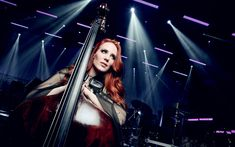 Download wallpapers Simone Simons, concert, Epica, dutch singer, beauty, girl with cello