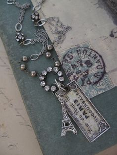 A Little French...vintage assemblage necklace by OhMyGypsySoul