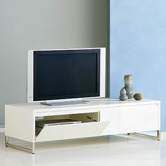 This could work at the front door as a bench and storage: Hudson Media Console #westelm