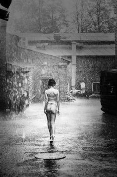 Boudoir in the rain. #lustworthy #lingerie  black and white photography. Charm me: https://www.pinterest.com/kelsiepaigepins/c-h-a-r-m/