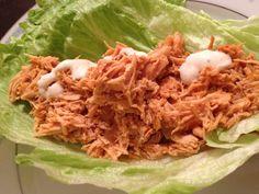 skinny buffalo chicken crockpot wraps recipe