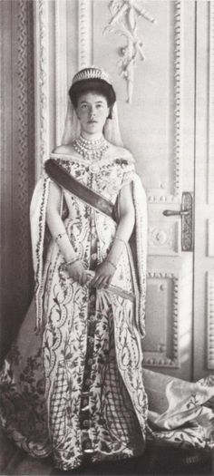 Grand Duchess Olga Alexandrovna of Russia in Russian Imperial Court Dress