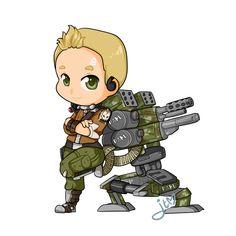 Axton the Chibi Commando by xNekorux
