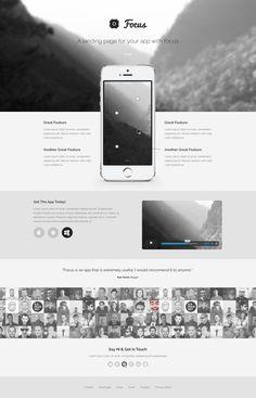 Focus - Free PSD Landing Page Template #app #website