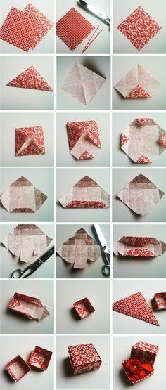 Doosje vouwen geknipt van http://www.pincookie.com/diy/page/20/ Door fidolio
