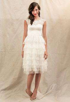 tea-length wedding gown