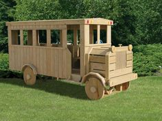 Wood School Bus Playset