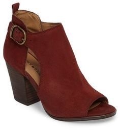 71fa348ae Lucky Brand Oona Open Side Bootie Bootie Boots, Ankle Booties, Leather  Booties, Lucky