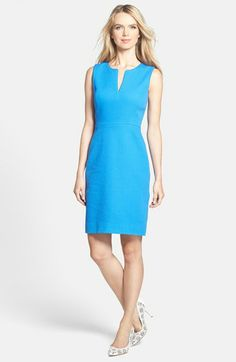 kate spade new york 'emrick' cotton sheath dress available at #Nordstrom. Pair with a linen blazer and closed toe shoes... Perfect for adding color into your work wardrobe!