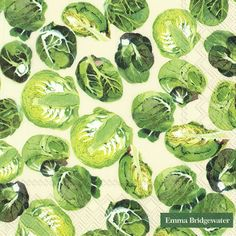 Servetten 33x33 cm - SPROUTS Emma Bridgewater, Fruit And Veg, Sprouts, Graphics, Food, Art, Crafts To Make, Laminas Para Decoupage, Flowers