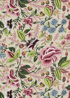 Dutch chintz Oberkampf Variations Allover