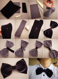 Use different fabricks and glue on clips to make bows
