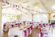 Chris & Clo's wedding decorations at the Longhouse in Bruton, Somerset.  Photo by Greg Thurtle
