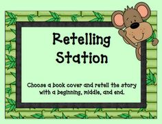 ABSOLUTELY LOVE this idea for a reading group station! Helps them practice summarizing and retelling with a friend and is VERY easy to do! :) Could use our reading stories too!