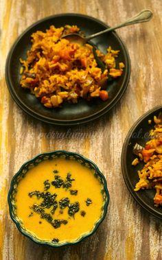Merry Tummy: Simple Kadhi (Yogurt Soup): Kadhi Chawal: Kadhi For Khichadi