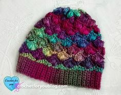 Crochet Shell N Picots Slouch Hat - free pattern on Crochet For You Blog.