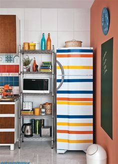blog de decoração - Arquitrecos: Geladeiras adesivadas. Vida nova ao velho eletrodoméstico!