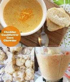 Cheddar Cauliflower Corn Chowder