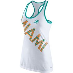 2adc13c8055 Nike Women s Miami Dolphins Warp Tank Top ( 16) ❤ liked on Polyvore Dolphin  Shorts