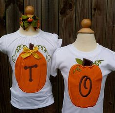 Personalized Initial Pumpkin Applique Shirt or Onesie for Boy or Girl on Etsy, $25.00